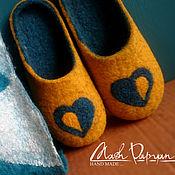 """Обувь ручной работы. Ярмарка Мастеров - ручная работа Валяные тапочки """"Любовь"""". Handmade."""