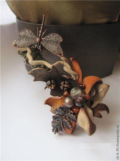 """Заколки ручной работы. Ярмарка Мастеров - ручная работа. Купить Заколка """"Поздний визит"""". Handmade. Заколка для волос, осенние листья"""