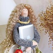 Куклы и игрушки ручной работы. Ярмарка Мастеров - ручная работа Apple Интерьерная кукла в стиле Тильда. Handmade.