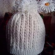 Вязание шапки спицами колоском