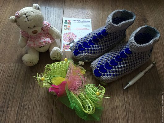 Обувь ручной работы. Ярмарка Мастеров - ручная работа. Купить Тапочки вязаные iSleepers. Handmade. Серый, тапочки для дома, черевички