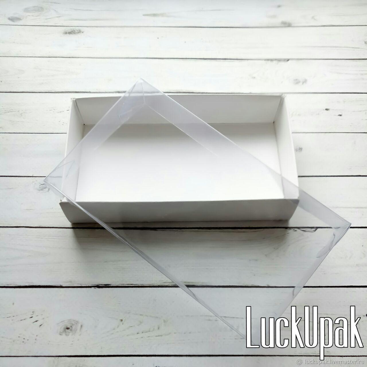 Упаковка ручной работы. Ярмарка Мастеров - ручная работа. Купить Коробка 16/9/3 см с прозрачной крышкой белая. Handmade. Упаковка