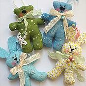 Куклы и игрушки ручной работы. Ярмарка Мастеров - ручная работа Елочные игрушки из ткани)))). Handmade.