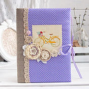 """Канцелярские товары handmade. Livemaster - original item Блокнот """"Цветочный велосипед"""". Handmade."""