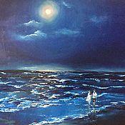 Картины и панно handmade. Livemaster - original item Pictures: Moonlit night. canvas 50 by 60 cm. Handmade.