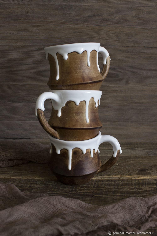 """Керамические кружки """"Белый шоколад"""". Большие кружки для чая, Кружки и чашки, Ставрополь,  Фото №1"""