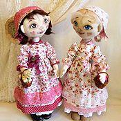 Куклы и игрушки ручной работы. Ярмарка Мастеров - ручная работа текстильные куклы Розочка и Беляночка, авторские. Handmade.