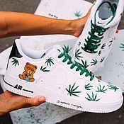 Обувь ручной работы handmade. Livemaster - original item painted shoes. Custom Nike air Force 1 sneakers. Handmade.