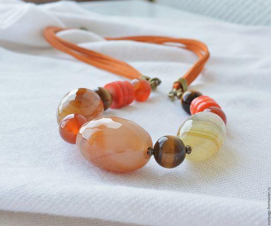 бусы ,купить бусы ,красивые бусы ,бусы в подарок ,бусы оранжевые ,бусы из натуральных камней