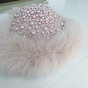 Свадебный салон handmade. Livemaster - original item Fur Hat Pink Wedding Hat Fancy Hat For The Bride. Handmade.