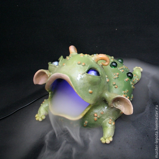 Элементы интерьера ручной работы. Ярмарка Мастеров - ручная работа. Купить Джаба-Джаба! Туманный зверь.. Handmade. Зеленый, НЛО