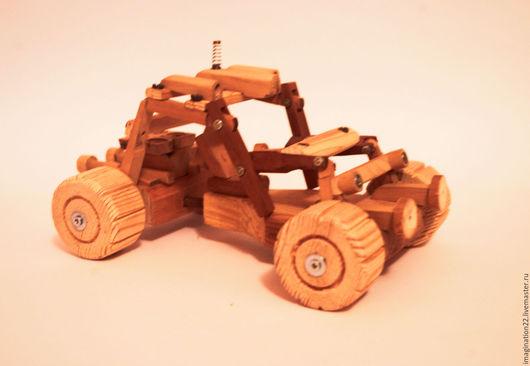 Развивающие игрушки ручной работы. Ярмарка Мастеров - ручная работа. Купить Деревянная машинка-конструктор. Handmade. Развивающая игрушка, коричневый