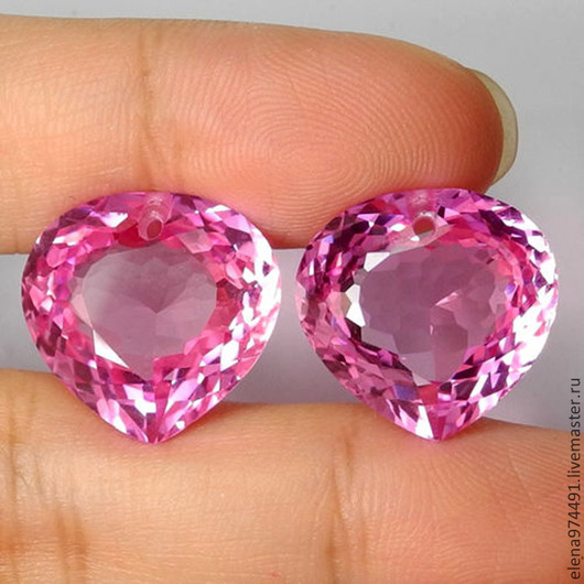 Для украшений ручной работы. Ярмарка Мастеров - ручная работа. Купить 36.20 Топаз Розовый  (пара). Handmade. Розовый