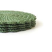 Для дома и интерьера ручной работы. Ярмарка Мастеров - ручная работа Подставки под кружки, зеленый, поштучно. Handmade.