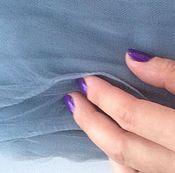 Материалы для творчества ручной работы. Ярмарка Мастеров - ручная работа фатин мягкий серо- голубой. Handmade.