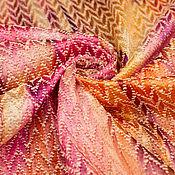 Материалы для творчества ручной работы. Ярмарка Мастеров - ручная работа Жаккард хлопковый  ИКАТ MISSONI  кораллово-розовые оттенки. Handmade.