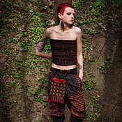 Одежда handmade. Livemaster - original item Embroidered Ethnic Pants Trousers. Handmade.