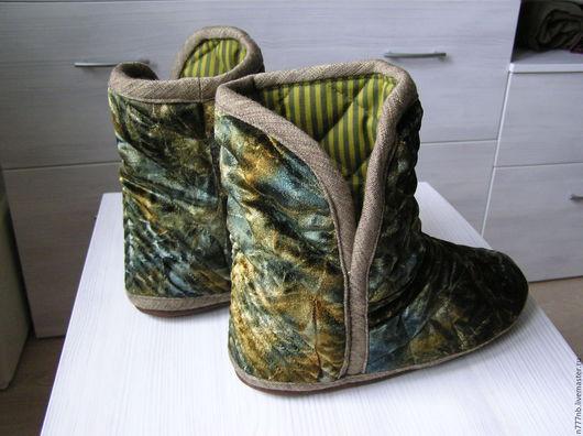 Обувь ручной работы. Ярмарка Мастеров - ручная работа. Купить Угги р.42 домашние стёганые № 159. Handmade.