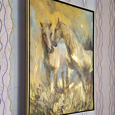 Картины и панно ручной работы. Ярмарка Мастеров - ручная работа Золотое утро картина маслом на холсте. Handmade.