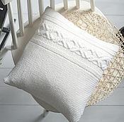 Для дома и интерьера handmade. Livemaster - original item Knitted IKEA pillow case, Hand knitted White cushion cover. Handmade.