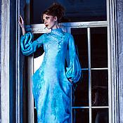 """Одежда ручной работы. Ярмарка Мастеров - ручная работа Валяное платье """"Голубые сумерки"""". Handmade."""