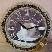"""Для дома и интерьера ручной работы. Ярмарка Мастеров - ручная работа Часы настенные """"Кофе с корицей"""". Handmade."""