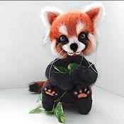Куклы и игрушки ручной работы. Ярмарка Мастеров - ручная работа Красная панда валяная Тануки. Handmade.