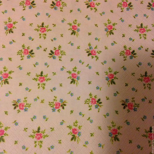 Мелкие нежные цветочки салфетка для декупажа, фоновая салфеточка Декупажная радость