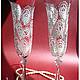 """Свадебные аксессуары ручной работы. Свадебные бокалы """"Принцесса Персии"""". Sirma  Root. Ярмарка Мастеров. Роспись по стеклу, невеста"""