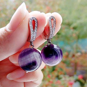 Decorations handmade. Livemaster - original item Earrings with amethyst