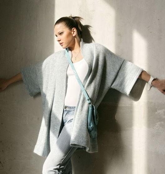 Кофты и свитера ручной работы. Ярмарка Мастеров - ручная работа. Купить Жакет-кимоно. Handmade. Кардиган, женский жакет