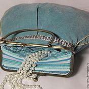 Сумки и аксессуары handmade. Livemaster - original item the velvet bag is the dream of the azure.... Handmade.