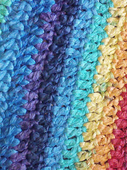 Текстиль, ковры ручной работы. Ярмарка Мастеров - ручная работа. Купить Радужный ковер. Handmade. Комбинированный, для ванной комнаты