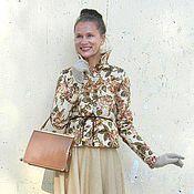 """Одежда ручной работы. Ярмарка Мастеров - ручная работа Жакет """"Осенняя пастэль"""", утепленный. Handmade."""