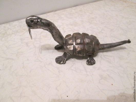 Оружие ручной работы. Ярмарка Мастеров - ручная работа. Купить динозавр- ящер(Panzer ящер) из металла. Handmade. Серый, металл
