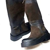 Сапоги ручной работы. Ярмарка Мастеров - ручная работа Эксклюзивные сапоги на толстой подошве. Handmade.