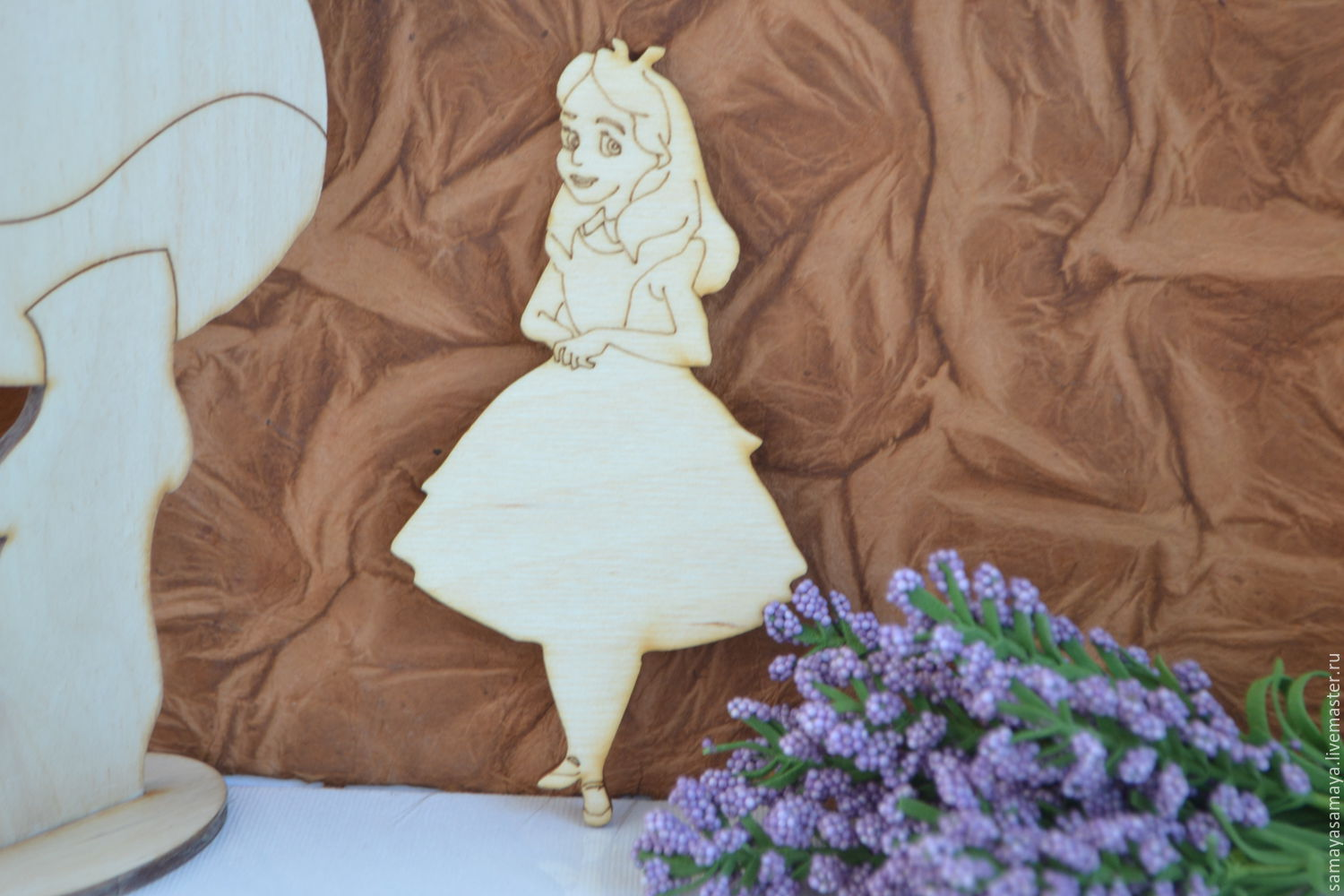 Blanks for creativity Alice in Wonderland, Blanks for decoupage and painting, Moscow,  Фото №1