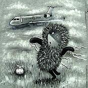 """Одежда ручной работы. Ярмарка Мастеров - ручная работа Футболка """"Не полетит, погода не лётная"""". Handmade."""