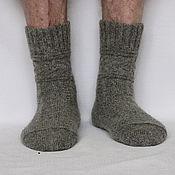 Аксессуары ручной работы. Ярмарка Мастеров - ручная работа Теплые шерстяные носки арт.Глэдис мужские носки из деревенской шерсти. Handmade.