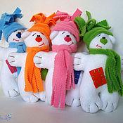 Куклы и игрушки ручной работы. Ярмарка Мастеров - ручная работа Тильда мишка утеплённый. Handmade.