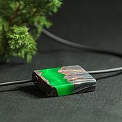 Украшения ручной работы. Ярмарка Мастеров - ручная работа Кулон из дерева серии Hybrid. Handmade.