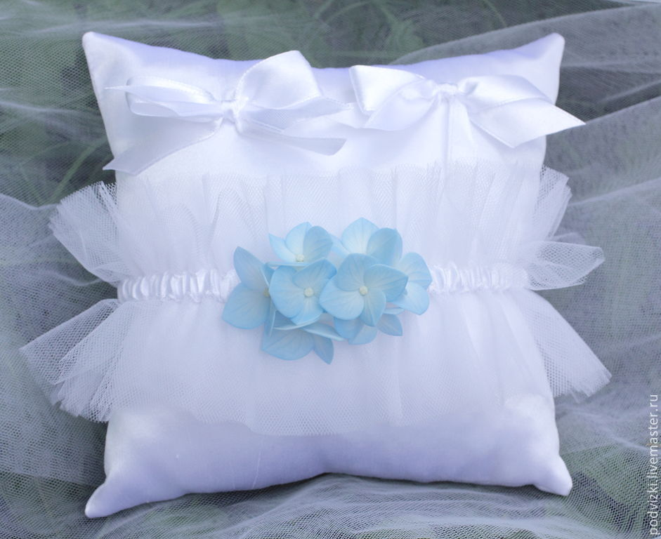 "Wedding Accessories handmade. Livemaster - handmade. Buy Подушечки для колец (для загса)"" Blue dreams"".Cushion, pillow wedding"