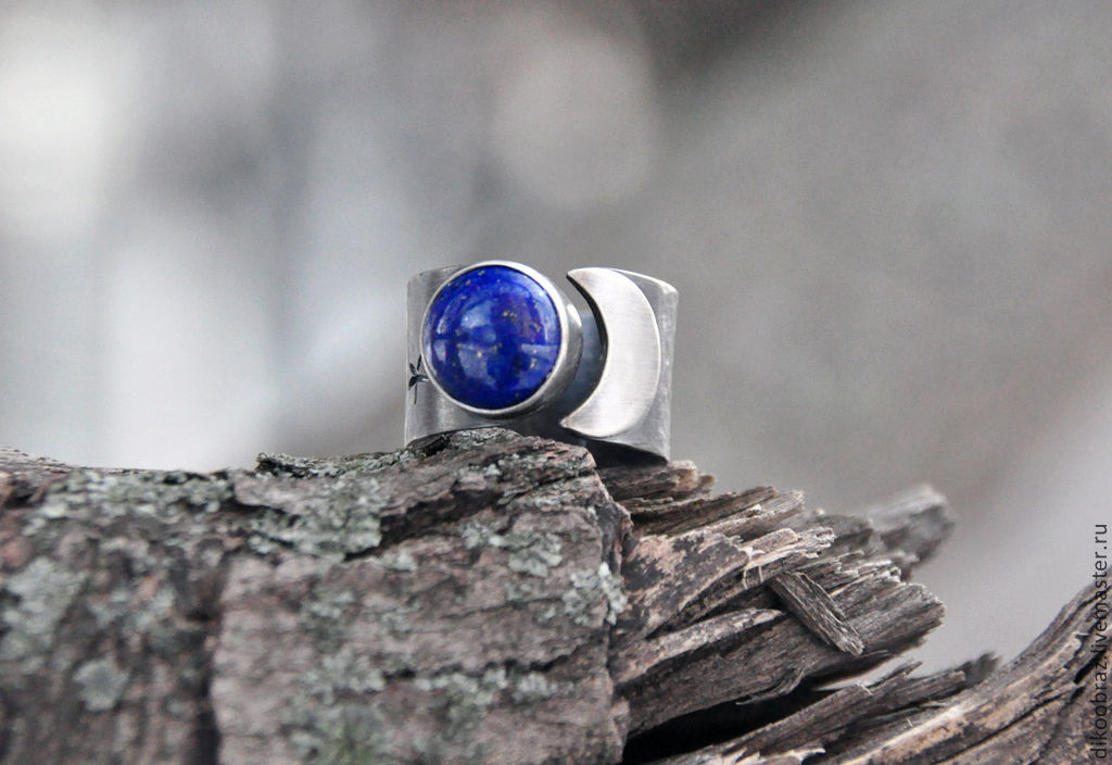 A silver ring with lapis lazuli 'bedtime story', Rings, Moscow,  Фото №1