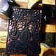 """Обложки ручной работы. Ярмарка Мастеров - ручная работа. Купить Обложка для паспорта """" Черное кружево"""".. Handmade. Черный, обложка"""