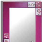 Для дома и интерьера ручной работы. Ярмарка Мастеров - ручная работа Зеркало настенное розовое Ракушки. Handmade.