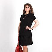 Одежда ручной работы. Ярмарка Мастеров - ручная работа Маленькое коричневое платье. Handmade.