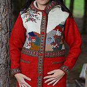 Одежда ручной работы. Ярмарка Мастеров - ручная работа Пальто вязаное 14WJ14. Handmade.