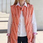 Одежда handmade. Livemaster - original item Tank top coral braids. Handmade.