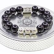 Украшения handmade. Livemaster - original item Rare stone Aura Hypersthene 12 mm men`s bracelet. Handmade.
