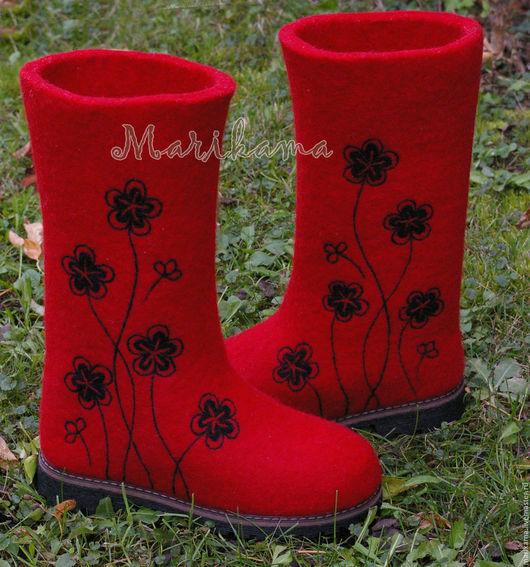 """Обувь ручной работы. Ярмарка Мастеров - ручная работа. Купить Валенки женские """"Моно-аромат"""". Handmade. Бежевый, валенки на подошве"""